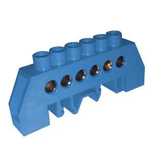 Шина N ноль 6х16мм2 изолированная на винты и DIN-рейку Стойка ШНИ-8х12-6-КС-С ИЭК