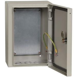 Щит металлический влагозащищенный ЩМП-3.2.1-0 74 У2 IP54, с монтажной платой  300х210х150 ИЭК