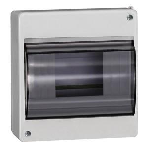 Бокс КМПн 2/6 на 6 модулей накладной пластиковый с прозрачной дверкой ИЭК