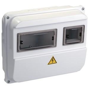 Корпус пластиковый влагозащищенный IP55 ЩУРн-П 1/3 на 1-фазный счетчик и 3 модуля ИЭК