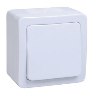 Выключатель 1-клавишный IP54 белый ГЕРМЕС PLUS ВС20-1-0-ГПБ ИЭК