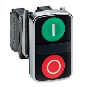 Двойная кнопка Schneider Electric XB5AL73415 с маркировкой 22мм