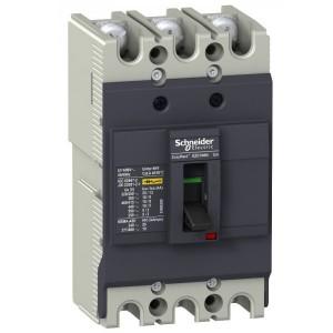 Автоматический выключатель Schneider Electric EZC100N 20A 18кА/380В 3П3T (автомат)