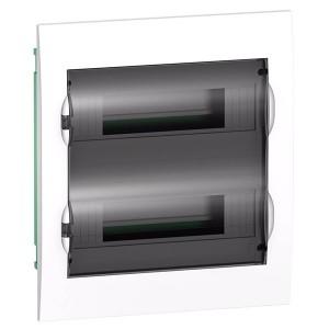 Бокс встраиваемый Schneider Electric Easy9 на 24 модуля с прозрачной дверью с клемниками N+PE