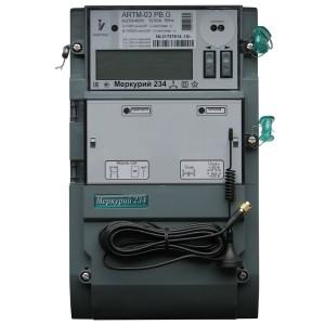 Электросчетчик Меркурий 234 АRTM-03PBR.G 5-10А 220/380В многотарифный ЖКИ GSM 1xRS485 транс. вкл.