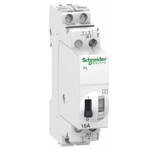 Импульсное реле Schneider Electric iTL16A 2 полюса 2НО 230В АС 50-60ГЦ 110В DC 1 модуль