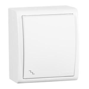 Выключатель проходной (переключатель) Simon 15 Aqua IP54 10А 250В белый