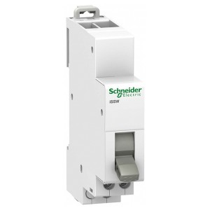 Двухпозиционный переключатель iSSW Acti 9 Schneider Electric 1 полюс 1НО/НЗ 20А 250В 1 модуль