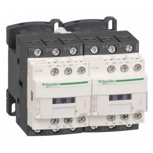 Пускатель магнитный реверсивный D Schneider Electric 3Р 18A катушка 220В AC 1НО+1НЗ (контактор)