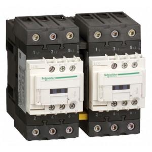 Пускатель магнитный реверсивный D Schneider Electric 3Р 50A катушка 220В AC 1НО+1НЗ (контактор)