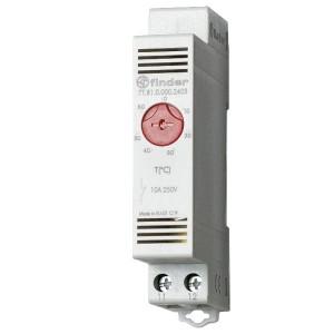 Модульный промышленный термостат NC контакт; диапазон температур (0 … +60) °C на DIN-рейку
