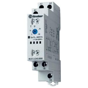 Модульный многофункциональный таймер 16A 1НО 12-240В AC/DC на DIN-рейку