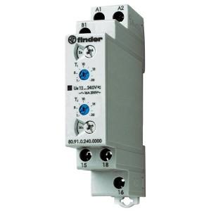 Модульный многофункциональный таймер 16A 1НО 24-240В AC/DC на DIN-рейку