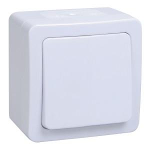 Кнопка 1-клавишная IP54 белая ГЕРМЕС PLUS ВСк20-1-0-ГПБ ИЭК