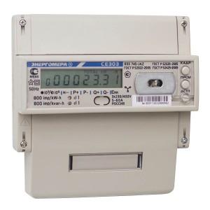 Счетчик трехфазный многотарифный CE303 R33 746-JАZ 5-100А ЖКИ на DIN-рейку 8 модулей