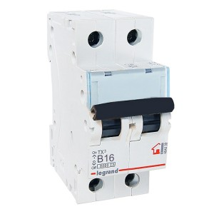 Автоматический выключатель Legrand TX3 B16A 2П 6kA (автомат)