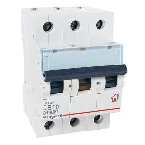 Автоматический выключатель Legrand TX3 B10A 3П 6kA (автомат)