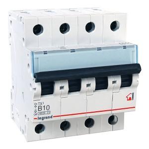 Автоматический выключатель Legrand TX3 B10A 4П 6kA (автомат)