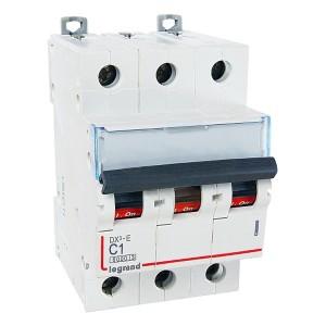 Автоматический выключатель Legrand DX3-E C1 3П 6000/6kA (автомат)