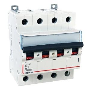 Автоматический выключатель Legrand DX3-E C1 4П 6000/6kA (автомат)