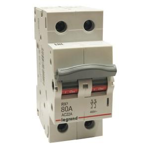 Рубильник модульный Legrand RX3 2П 80А выключатель-разъединитель