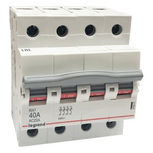 Рубильник модульный Legrand RX3 4П 40А выключатель-разъединитель