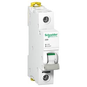 Выключател нагрузки iSW Acti 9 Schneider Electric 1П 100A (модульный рубильник) 1 модуль