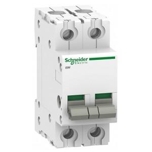Выключател нагрузки iSW Acti 9 Schneider Electric 2П 100A (модульный рубильник) 2 модуля