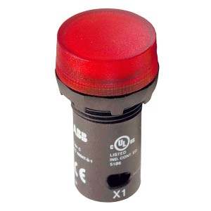 Лампа ABB CL2-502R красная со встроенным светодиодом 24В AC/DC