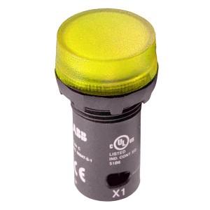 Лампа ABB CL2-502Y желтая со встроенным светодиодом 24В AC/DC