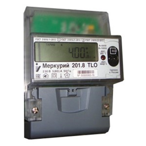 Электросчетчик Меркурий 201.8 TLO 5-80А/220В кл.т.2,0 многотарифный ЖКИ PLC модем