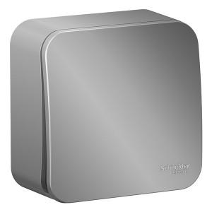Кнопочный выключатель с самовозвратом Blanca Schneider Electric 10А алюминий изол.пластина