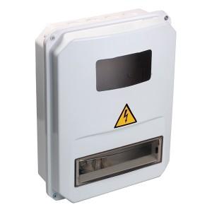 Корпус пластиковый влагозащищенный IP55 ЩУРн-П 3/10 на 3-х фазный счетчик и 10 модулей ИЭК