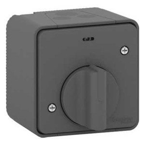 Выключатель с таймером (реле времени) IP55 накладной монтаж Mureva Styl Schneider Electric Антрацит