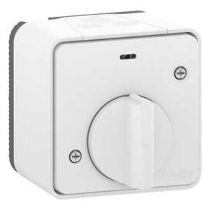 Выключатель с таймером (реле времени) IP55 накладной монтаж Mureva Styl Schneider Electric Белый
