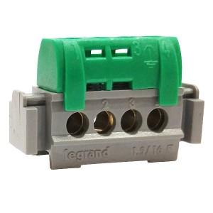 Клеммник Legrand зеленый 4х1.5-16мм2