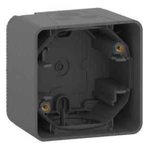 Коробка 1 пост накладного монтажа Mureva Styl IP55 Schneider Electric Антрацит