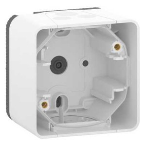 Коробка 1 пост накладного монтажа Mureva Styl IP55 Schneider Electric Белый