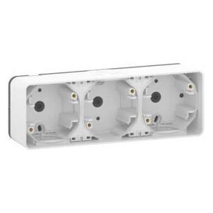 Коробка горизонтальная 3 поста накладного монтажа Mureva Styl IP55 Schneider Electric Белый