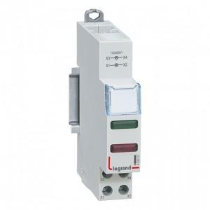 Индикатор модульный Legrand с двумя лампами 2xLED красный и зеленый рассеиватели 110/400В~ 1модуль
