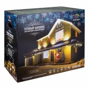 Набор для новогоднего украшения дома Luxury цвет гирлянд Тёплый белый