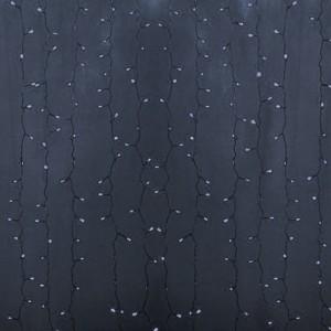 Гирлянда Светодиодный Дождь 2x0,8м 160LED белый IP44, постоянное свечение, прозрачный провод, 230В
