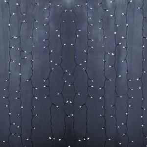 Гирлянда Светодиодный Дождь 2x6м 1500LED белый IP44 постоянное свечение, прозрачный провод, 230В
