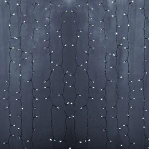 Гирлянда Светодиодный Дождь 2x1,5м 192LED белый IP44 постоянное свечение, прозрачный провод, 230В