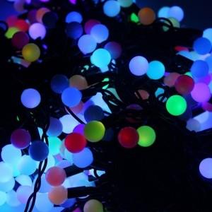 Гирлянда LED ClipLight - МУЛЬТИШАРИКИ 24V, 3 нити по 20 м, свечение с динамикой, цвет диодов RGB