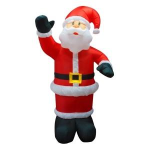 3D фигура надувная Дед Мороз приветствует, 150см 4LED подсветка, трансформатор 12V и компрессор