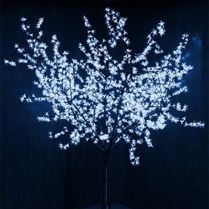 Светодиодное дерево Сакура 1728LED 210W 24V L2.4m кронa 2m синий IP65 трансформатор в комплекте