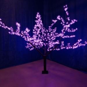 Светодиодное дерево Сакура 1000LED 10W 24V L1.7x1.8m фиолетовый IP54 трансформатор в комплекте