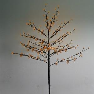 Дерево комнатное Сакура коричневый ствол и ветки L1.2m 80LED теплый белый, комплект: трансформатор