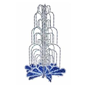 LED фонтан, высота 2.8, диаметр 1.8 метра (с контроллером) Синий